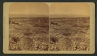 Leadville, Colorado - Leadville, as viewed from California Gulch - early photo, circa unknown