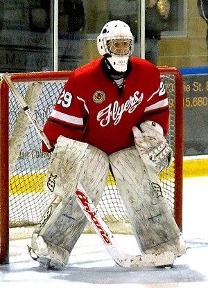 Leamington Flyers - Flyers goalie during 2014-15 season on the road.