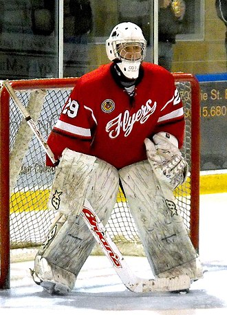 Leamington Flyers - Flyers goalie during 2014-15 season on the road.