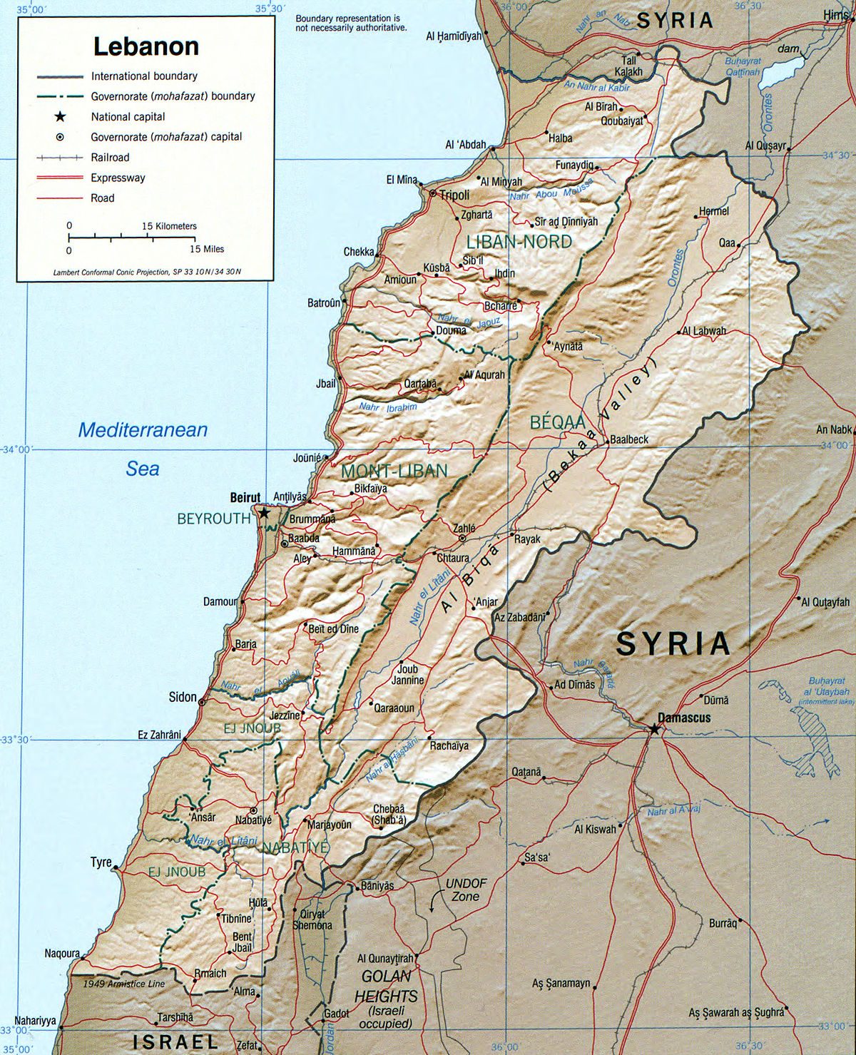 Geography of Lebanon Wikipedia