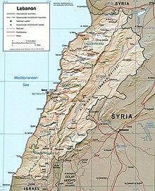 Geography of Lebanon - Wikipedia