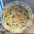 Lebrillo (big earthenware bowl) with shepherd and hare, Teruel, Spain, 18th century AD, ceramic - Museo Nacional de Artes Decorativas - Madrid, Spain - DSC08220.JPG