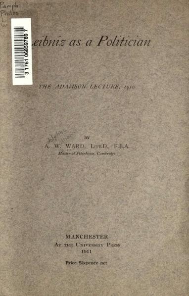 File:Leibniz as a Politician.djvu