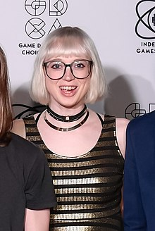 Raine at the 2018 GDC IGF Awards