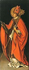Der heilige Ulrich(Ölmalerei von Leonhard Beck, um 1510)