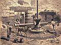 """Les merveilles de l'industrie, 1873 """"Le moulin à blé chez les Romains"""". (4305549459).jpg"""