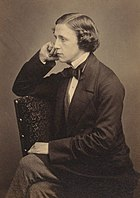Black and white portrait of Lewis Carroll