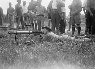 Lewis gun - U.S. Marines field tested the Lewis machine gun in 1917.