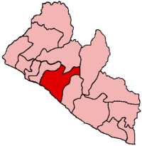 Location of Grand Bassa County in Liberia