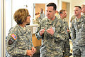 Lieutenant General Patricia D. Horoho, 43rd surgeon general visits the Troop Medical Clinic at Rose Barracks, Germany 120509-A-HE359-003.jpg
