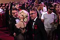 Life Ball 2013 - magenta carpet Amanda Lepore, Dean and Dan Caten 02.jpg