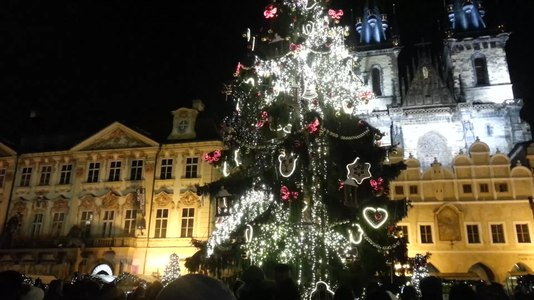 File:Lighting of the Christmas tree in Prague.webm