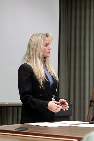 Linda Ham - Linda Ham addresses the Columbia Accident Investigation Board following the loss of Space Shuttle ''Columbia'' on February 1, 2003