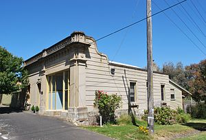 Linton, Victoria - The BARR building, once home to the local doctor's surgery and a haberdasher/glovemaker