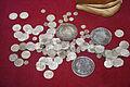 Lipot I & Ferdinand I Hungarian Thaller and silver ducat.jpg