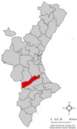 Localització de la Costera respecte del País Valencià.png