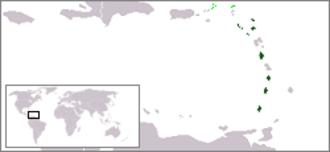 Organisation of Eastern Caribbean States - Image: Location OECS