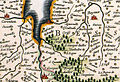 Location of Cerisy-la-Forêt on William Blaeu's map of the Duchy of Normandy (1635).jpg