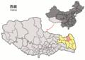 Location of Qamdo within Xizang (China).png