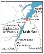 Map of Loch Ness