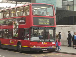 London Buses route 63 - London Central Plaxton President bodied Volvo B7TL in Peckham in March 2007