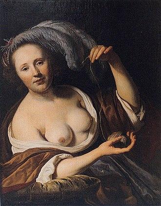 Jacob van Loo - Ariadne (1652). Wilanów Palace, Warsaw