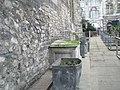 Looking northwards along rear wall of All Hallows Barking - geograph.org.uk - 642314.jpg