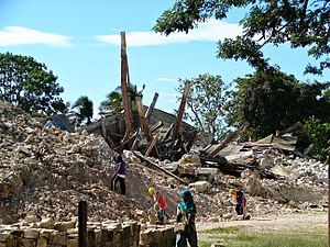 2013 Bohol earthquake - The rubble of the Church of Our Lady of Light in Loon, Bohol, the oldest and one of the largest in the province