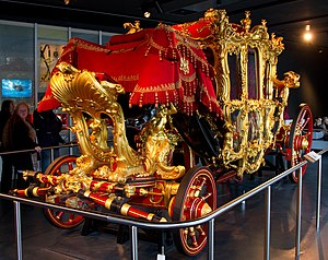 Museum of London - Lord Mayor's Coach on display in the Museum