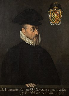 Lorenzo Suárez de Mendoza, 4th Count of La Coruña fifth viceroy of New Spain