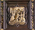 Lorenzo ghiberti e aiuti, porta nord del battistero di firenze, cornici, 07 cacciata dei mercanti.JPG