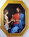Lorenzo lippi, gesù che riceve il pane eucaristico dall'angelo, xvii sec, da s. stefano.JPG
