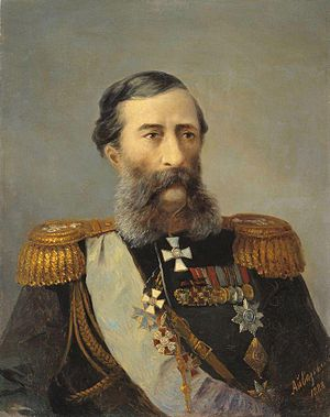 Mikhail Loris-Melikov - An 1888 portrait of Loris-Melikov by Ivan Aivazovsky.
