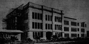 John H. Francis Polytechnic High School - Old campus of Polytechnic High under construction in 1905