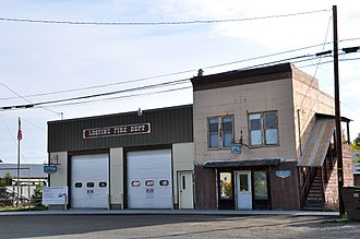 Lostine, Oregon - Lostine fire station, city hall, and library