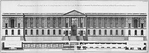 Perrault's Colonnade - Image: Louvre Élévation de la principale facade au côté de Saint Germain l'Auxerrois Architecture françoise Tome 4 Livre 6 Pl 7