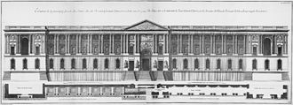 Perrault's Colonnade - Engraving of the east facade from Blondel's Architecture françoise, 1756