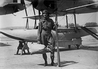 Richard E. Byrd - Lt. Com. Byrd and aircraft