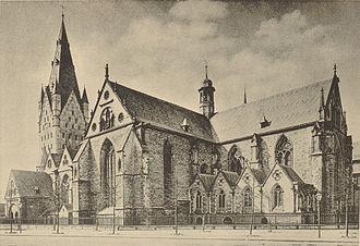 Prince-Bishopric of Paderborn - Paderborn Cathedral around 1891