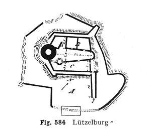 Château de Lutzelbourg - Plan of Lutzelbourg
