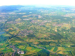 Breisgau region in the southwest of Baden-Württemberg with the center of Freiburg im Breisgau