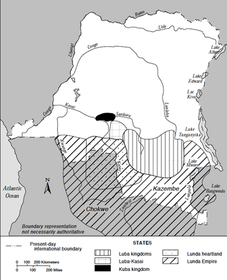 Kingdom of Lunda - The Lunda Empire extended away from the Kingdom of Lunda and across South-Central Africa