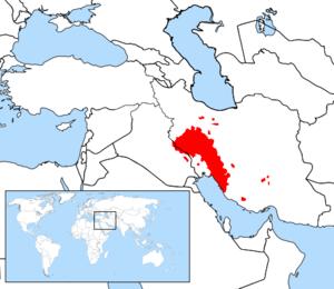 Bakhtiari dialect - Map of Lurish speakers