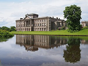 Lyme Park - Oblique view from across the pond
