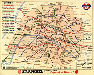 Paris Métro - Paris Métro network in 1939
