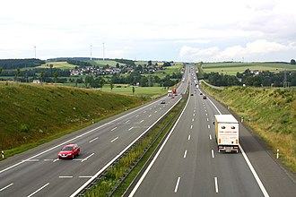 Transport in Germany - Three-lane autobahn