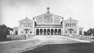 München Hauptbahnhof - Munich station, ca. 1854