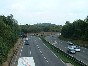 M32 motorway - The northern section of the M32 connects to the M4 at a modified roundabout.