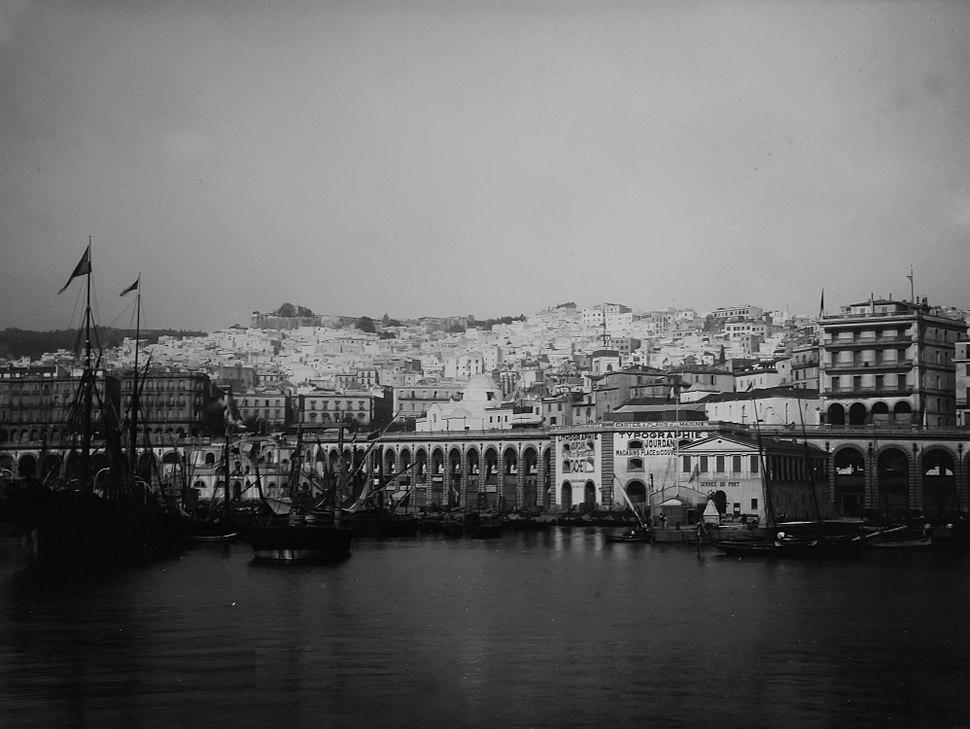MHNT - Trutat - Le port d'Alger, Algerie, 1881