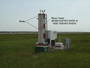 Microwave landing system - An MLS elevation guidance station.
